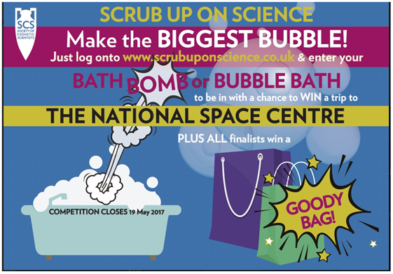 Scrub up on science school competition closing date 19 May 2017